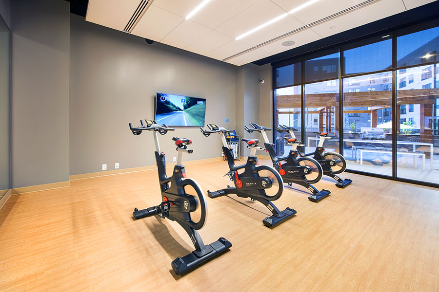 Yoga Studio featuring MyRide on Demand Cycling