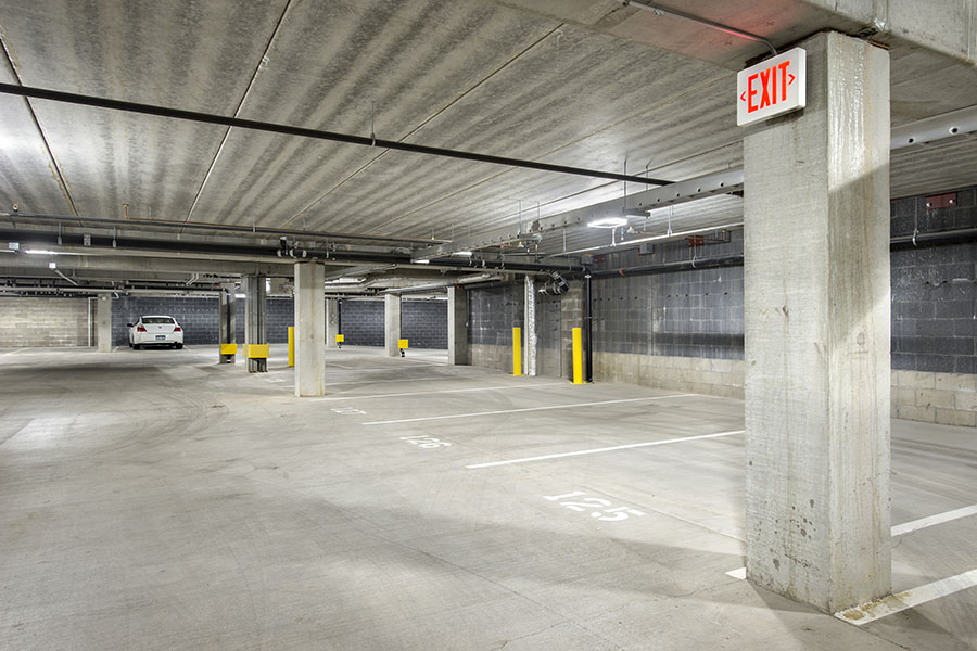 Heated Underground Garages Available