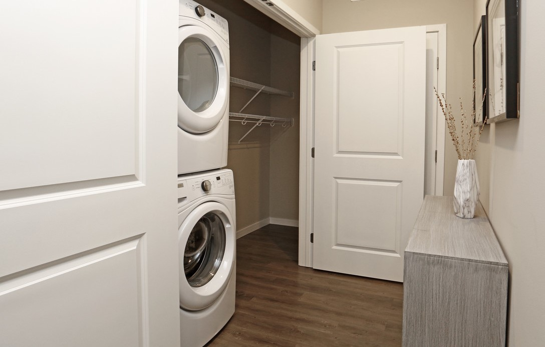 Full Size Stacked Washer & Dryer in all Apartments